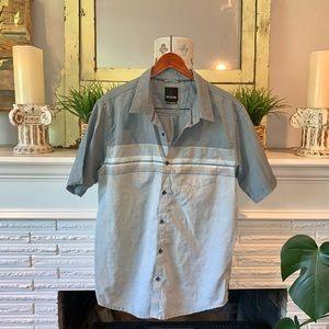 PRANA Men's Striped Casual Button Down Shirt XL
